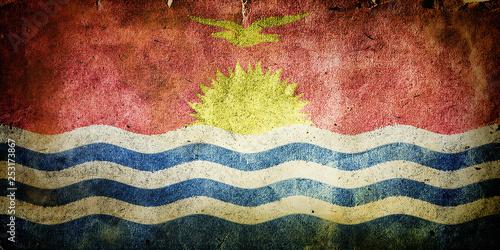 Fotobehang Macrofotografie Flag of Kiribati