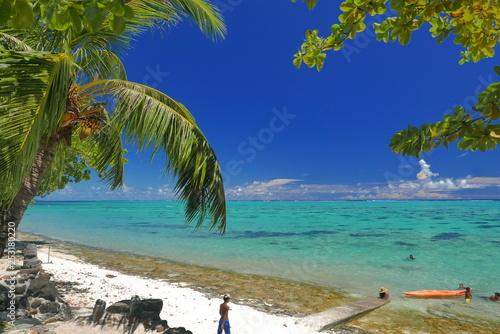 Stampa su Tela lagon de moorea polynesie