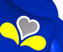 3D Flag Of Brussels, Belgium.