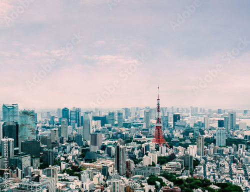 Poster Tokyo Tokyo cityscape under beautiful clear sky : Tokyo , Japan