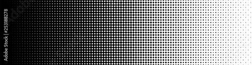 Foto auf Gartenposter Künstlich Seamless Screentone Graphics, Halftone Gradation, Diamond Pattern, Black