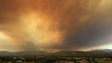 4k Clip Of Massive Sand Fire In Los Angeles July 2016