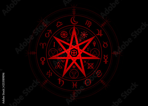 Cuadros en Lienzo Wiccan symbol of protection