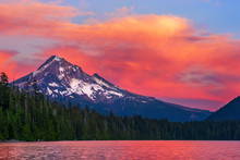 Mt. Hood At Sunset From Lost L...