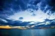 Digital Art Sunset in Panama City Beach Florida USA