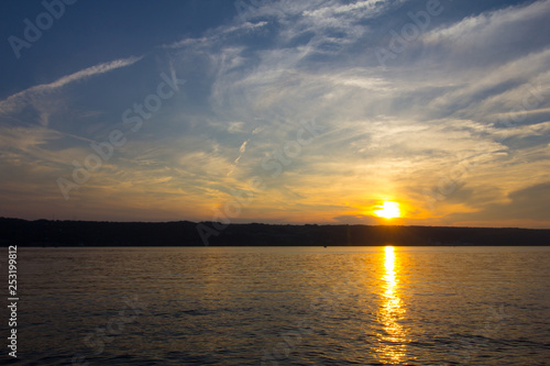 Sunset on Seneca Lake, New York