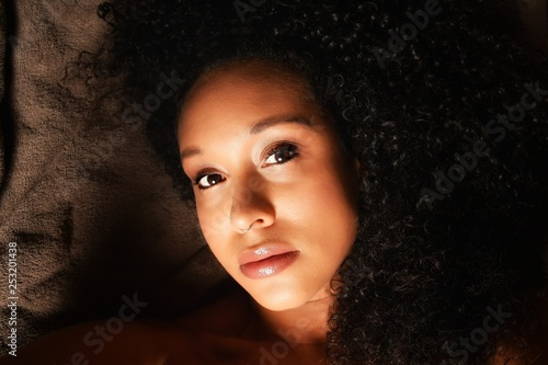 Fototapety, obrazy: Woman laying down