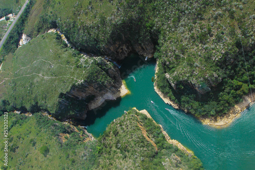 Foto op Aluminium Rivier Furnas Canyon, Capitólio, Minas Gerais, Brazil