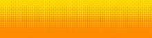 Seamless Screentone Graphics, Halftone Gradation, Diamond Pattern, Orange And Yellow