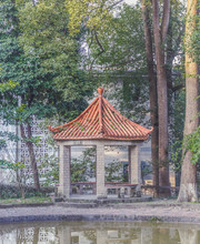 Chinese Pavilion In Park