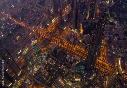 Fotografía  Aerial view Dubai city United Arab Emirates