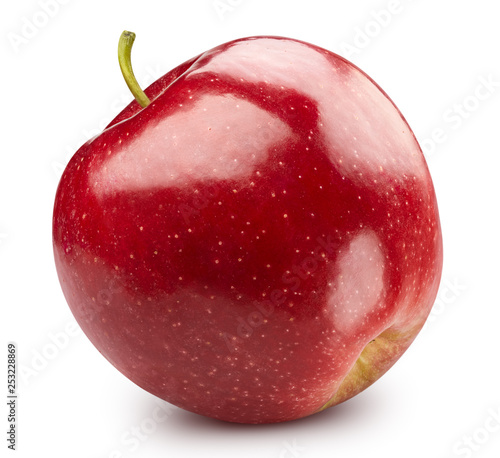 Stickers pour porte Pierre, Sable Red apple isolated on white