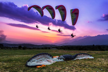 Paragliding Is An Aerial Sport...