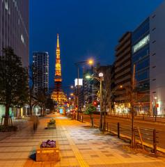 Zachód słońca Tokyo Tower