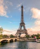 Fototapeta Fototapety z wieżą Eiffla - Beautiful eiffel tower on seine river