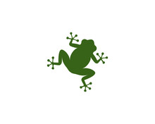 Frog Logo Template Vector Icon Illustration Design