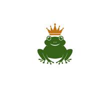 Frog Logo Template Vector Icon...