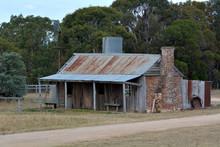 Deserted Australian Farm House In The Outback Of Australia