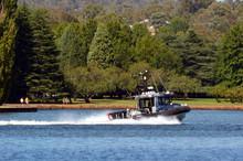 Australian Federal Police Boat In Canberra Australia Capital Territory
