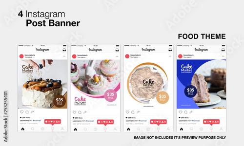 Food Instagram Post Fototapeta