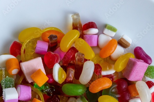 Aluminium Prints Candy candy in a bowl
