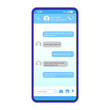 Smartphone chat interface vector template