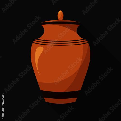 Flat design icons of urn for ashes Fotobehang