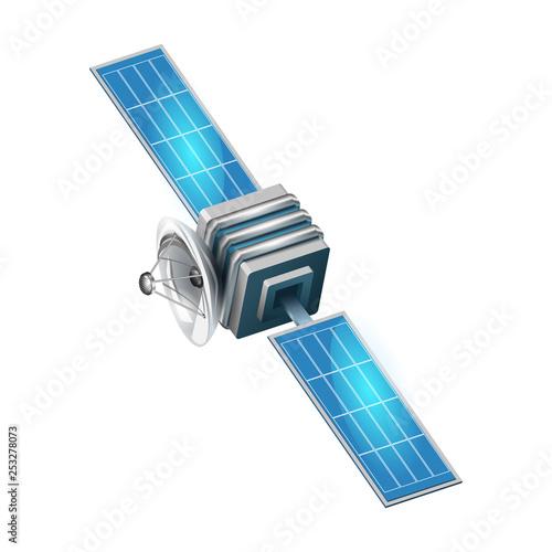 3d satelite vector illustration Wallpaper Mural