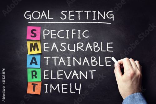 Fotografie, Obraz Smart business goal setting concept