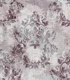 Barokowy tekstura wzoru wektor. Dekoracja ornamentem kwiatowym. Wiktoriański grawerowany projekt retro. Dekoracje w stylu vintage. Luksusowe tkaniny - 253286630