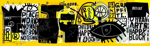 Poster Graffiti Symbolic image of graffiti that contains various characters and words