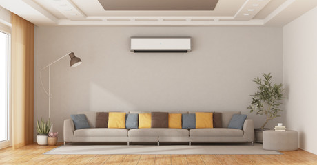 FototapetaModern living room with sofa and air conditioner