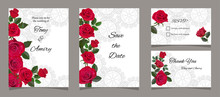 Greeting Card With Red Roses, ...