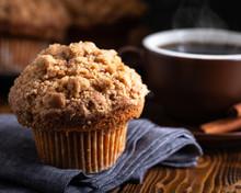 Closeup Of A Cinnamon Muffin