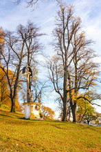 Wayside Shrine With Jesus Christ In Calvary Complex In Banska Stiavnica During Autumn, UNESCO (SLOVAKIA)