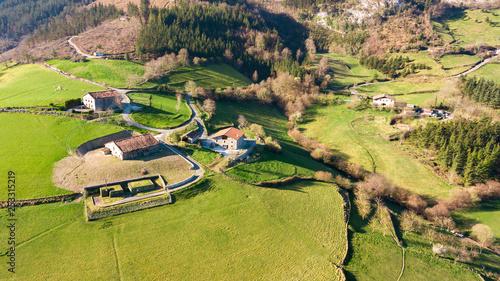 Fotografía  countryside village of basque country, Spain