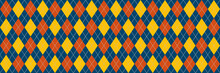 Blue And Yellow Argyle Banner