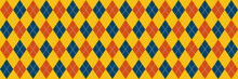 Yellow, Blue And Orange Argyle...