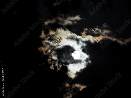 Fototapety, obrazy: Clouds and moon