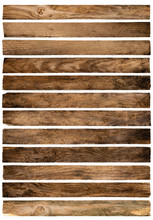 Old Wood Planks Isolated On White Background.