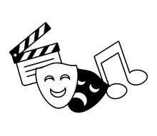 Theater Mask Music Note Movie