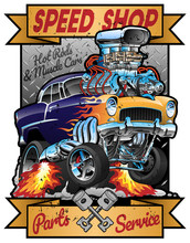 Speed Shop Hot Rod Muscle Car ...
