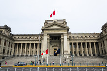 The Palace Of Justice Of Lima Is The Main Seat Of The Supreme Court Of Justice Of The Republic Of Peru And Symbol Of The Judicial Power Of Peru.