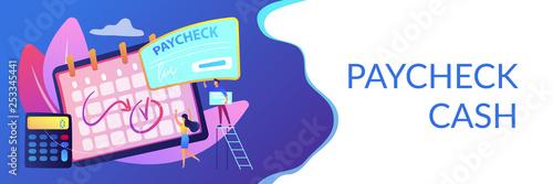 Fototapeta Paycheck concept banner header. obraz