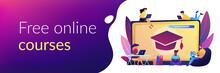 Online Courses Concept Banner Header.