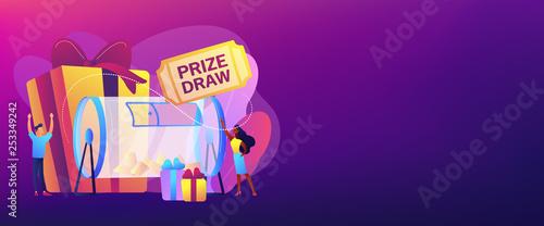 Foto Prize draw concept banner header.
