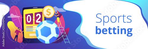 Fotografía  Sports betting concept banner header.