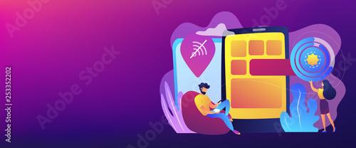 Fotografía Progressive web app concept banner header.