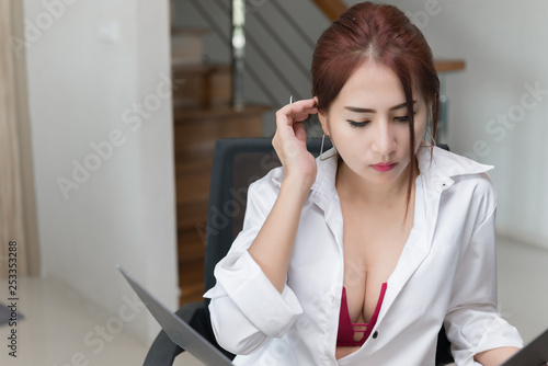sexy asian office