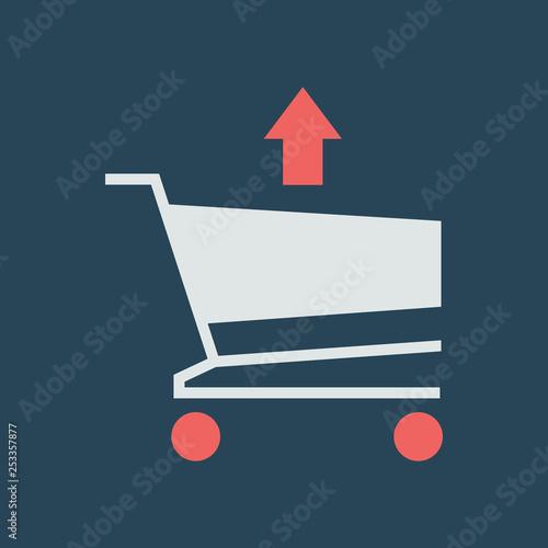Fotografía  Silhouette icon remove item from cart